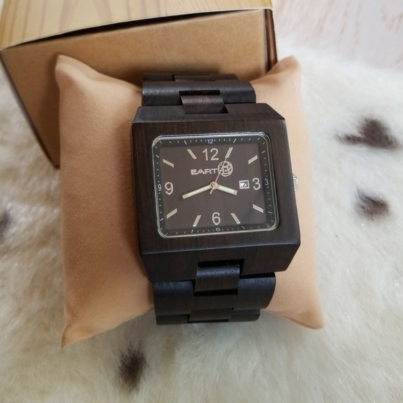 Earth Wood Watches Accessories Earth Wood Watch Large Square Face